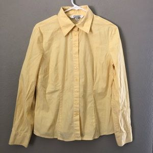 Gallagher Yellow White Pinstriped button down 10p